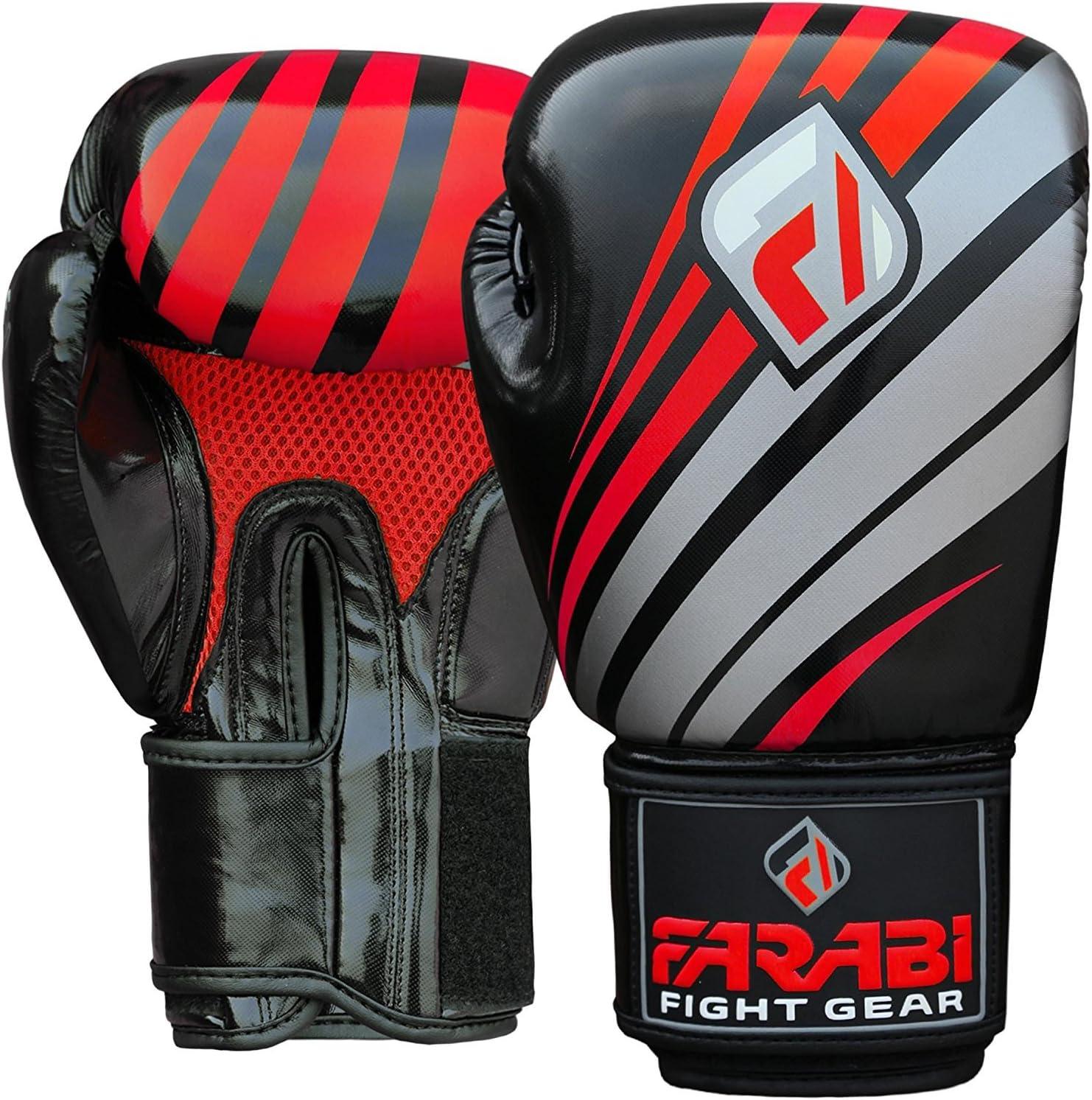 Farabi FAR-TECH Boxing Gloves 10oz 12oz 14oz 16oz Boxing Gloves for Training Punching Sparring Punching Bag Boxing Bag Gloves Punch Bag Mitts Muay Thai Kickboxing MMA Martial Arts Workout Gloves Boxing gloves Men Boxing Training Gloves