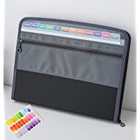 NAFY Expanding File Folders, 13 Pockets Document Organizer with zipper, A4 Letter Size Portable Accordion Expanding File…