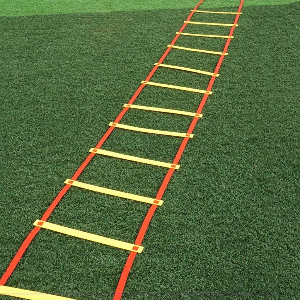 Xin Escalera de Agilidad (6 M - 12 de escalón), de Primera Calidad, Velocidad Equipo de Entrenamiento for los Equipos, Atletas, Personas y niños, Ajustable, maximizar la Agilidad, Velocidad, rapidez: Amazon.es: Deportes