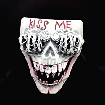 the purge anarchy movie kiss me skull mask halloween haunted horror killer house costume party mask