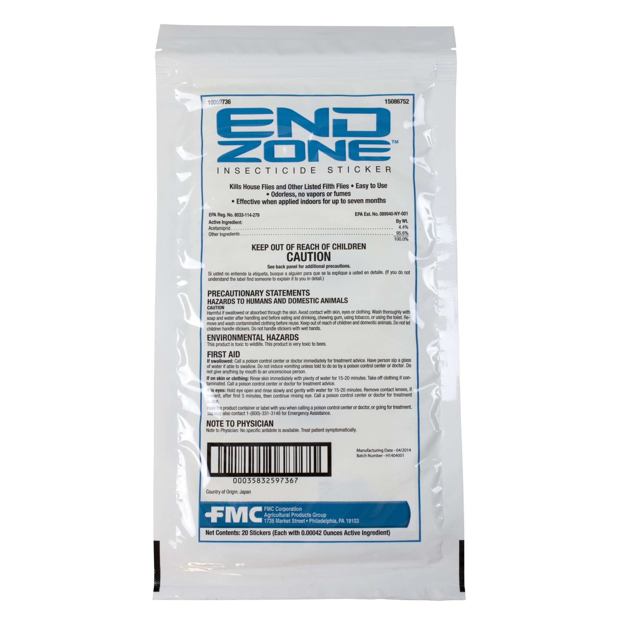 EndZone Insecticide Sticker (20)