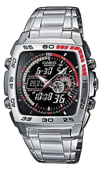 580ee127d295 CASIO Edifice EFA-122D-1AVEF - Reloj de Cuarzo con Correa de Acero  Inoxidable para Hombre