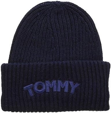 7a2d3d1c7322 Tommy Hilfiger Women s Logo Patch Beanie  Amazon.co.uk  Clothing
