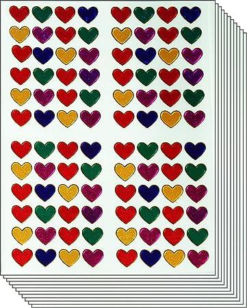 HEART BORDERS Peel Off Stickers Valentines Love Trim Lines Wedding Pink Purple