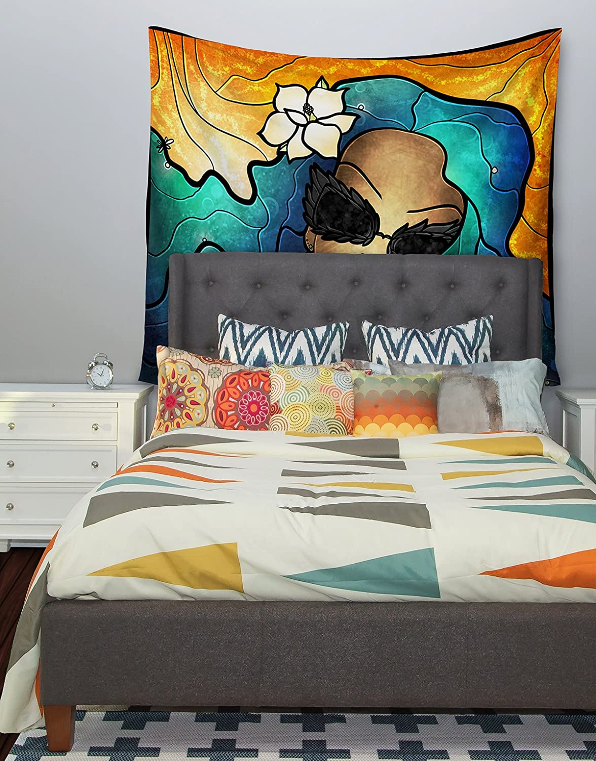 Kess InHouse Mandie Manzano Let The Good Times Roll Wall Tapestry 51 X 60
