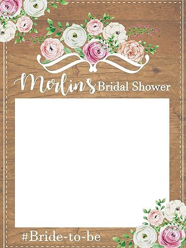 Amazoncom Custom Floral Bridal Shower Photo Booth Frame Sizes