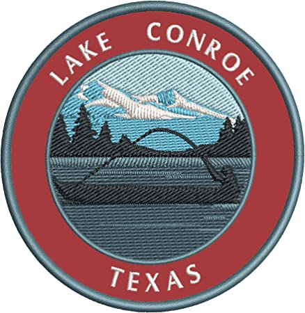 Sew-On Decorative Gear Applique Lake Charles Louisiana Embroidered Patch Iron