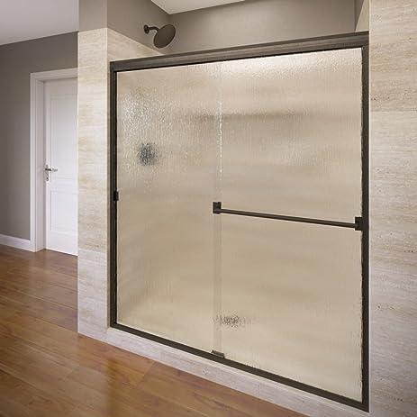 Basco Classic 56u0026quot; To 60u0026quot; Frameless Sliding Glass Door 3/16u0026quot;  Rain