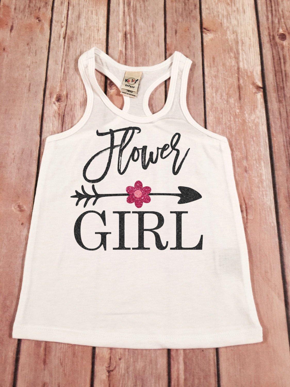 Flower girl tank top, Flower Girl shirt, Wedding shirt, bridal party racerback tank top, flower girl tank top,Flower shirt, Flower girl