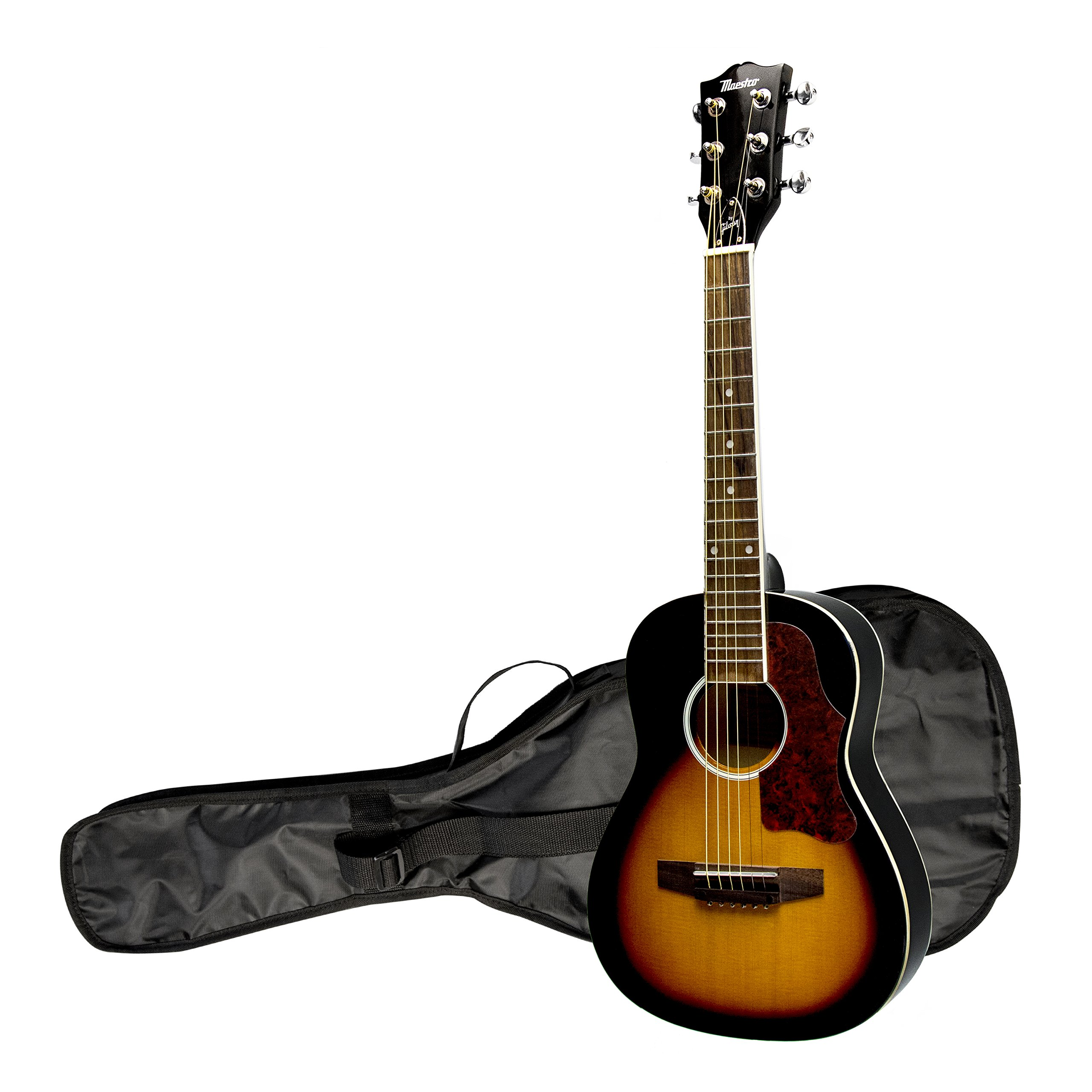 Maestro by Gibson 30'' Mini Acoustic Guitar with Gig Bag, Vintage Sunburst