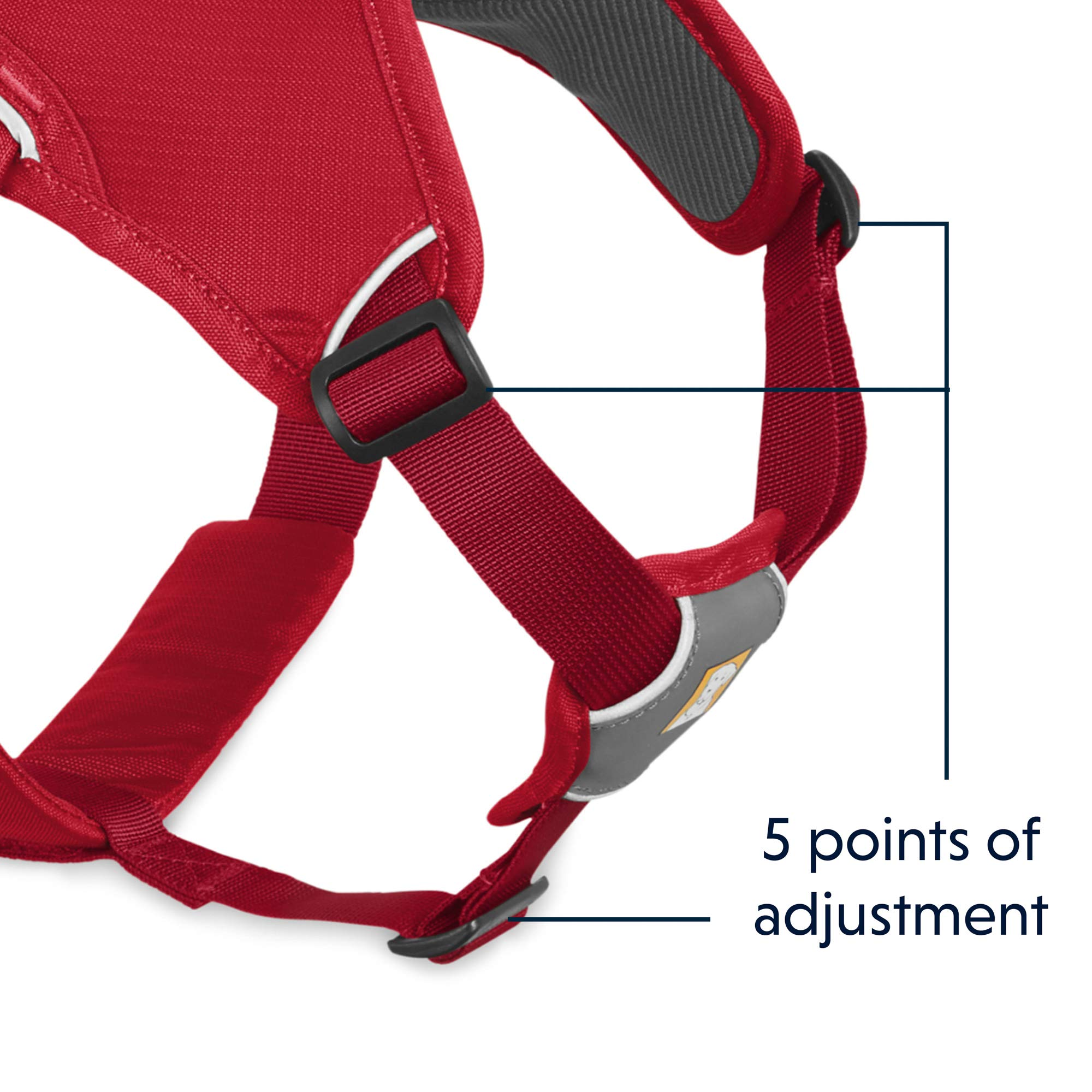 RUFFWEAR - Web Master, Multi-Use Support Dog Harness, Hiking and Trail Running, Service and Working, Everyday Wear, Red Currant, X-Small by RUFFWEAR (Image #5)
