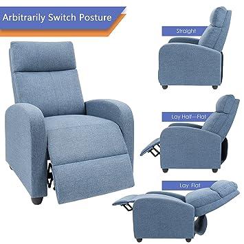 Amazon.com: Devoko - Silla reclinable ajustable de piel ...