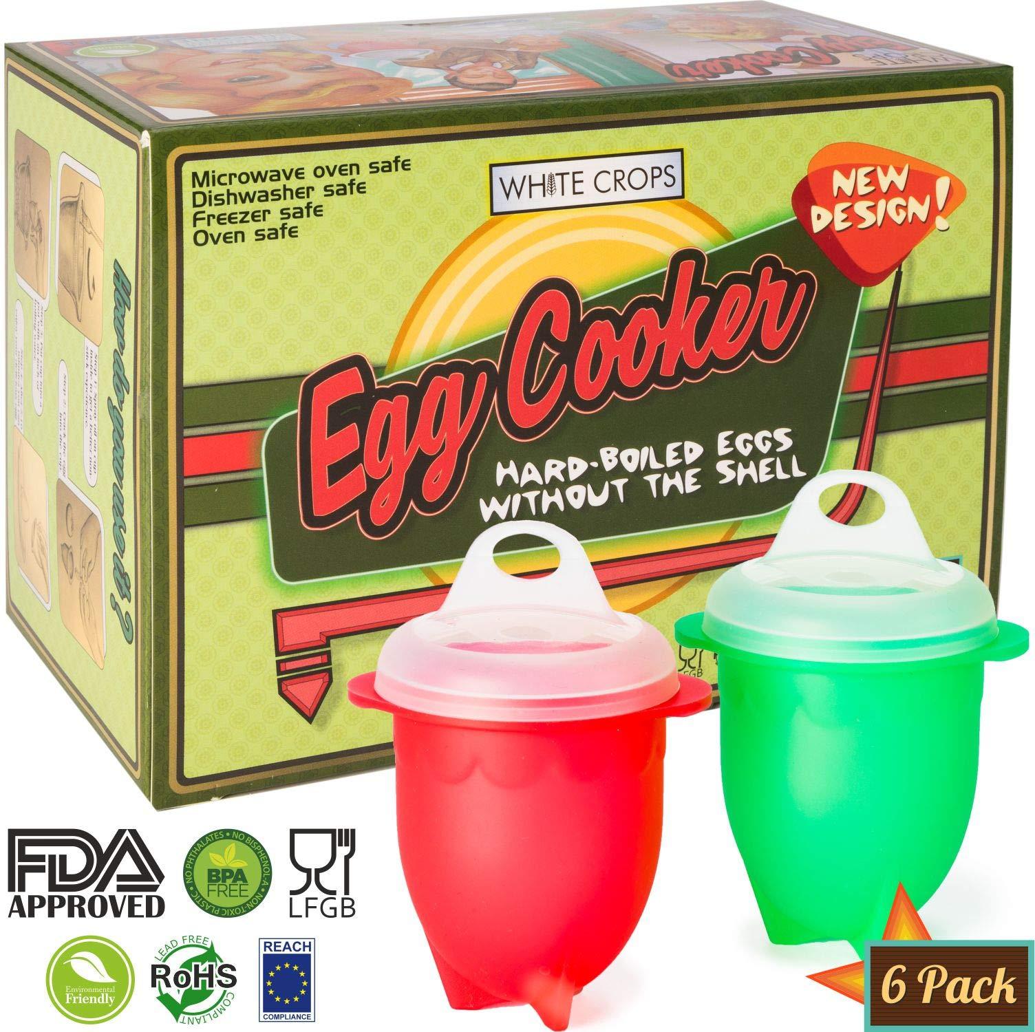 Egg Cooker Egg Poacher - Hard Boiled Egg Maker, Egg Boiler, Silicone Egg Cooker Microwave Egg Cooker