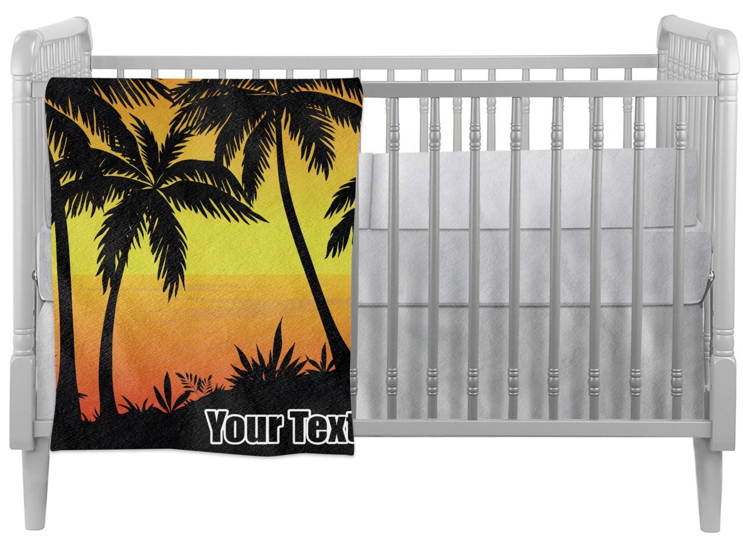 Tropical Sunset Crib Comforter / Quilt (Personalized)