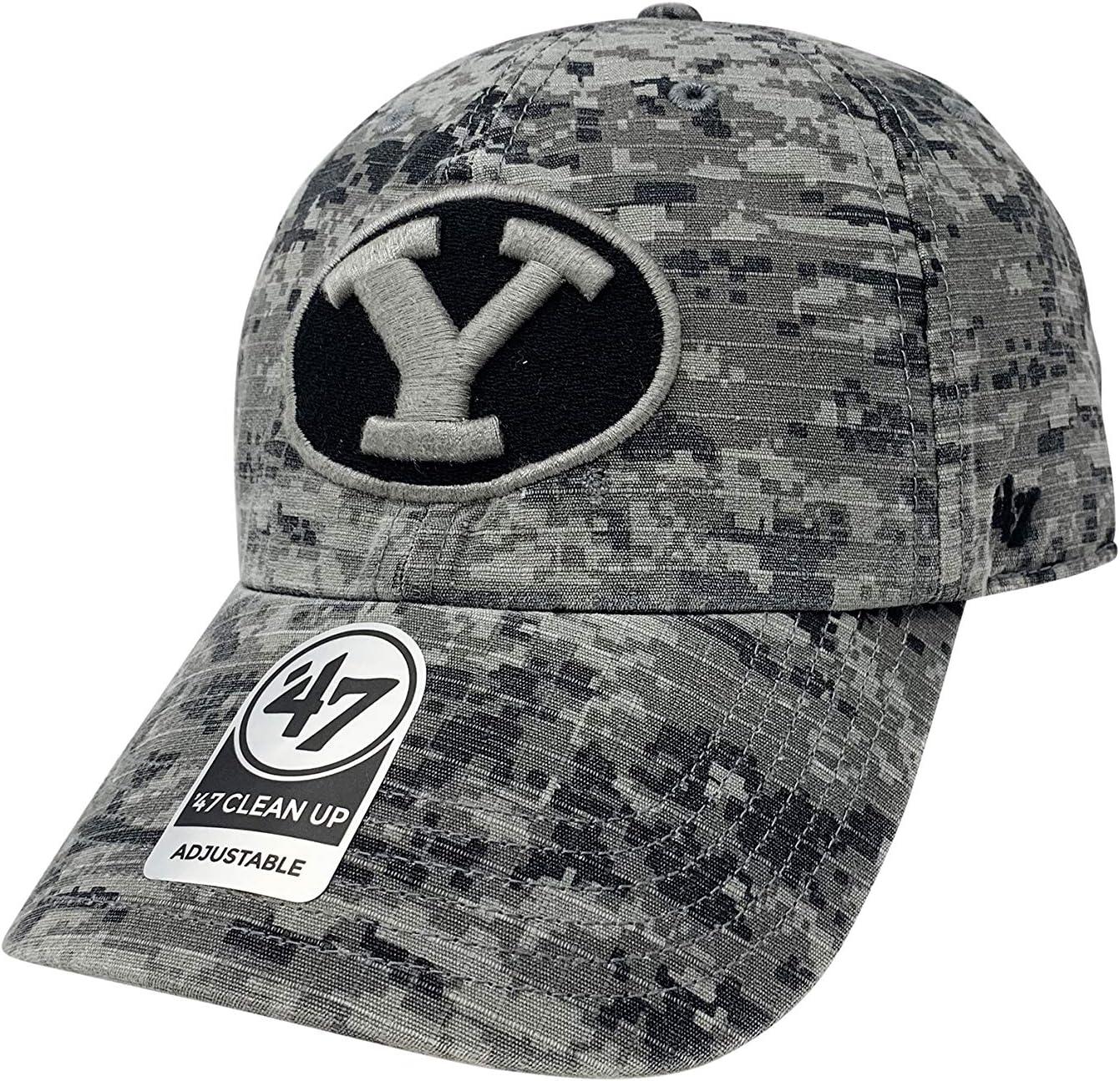 '47 Brand BYU Cougars Contender 調節可能な野球帽 ロープロファイル NCAA フットボールキャップ Nilan Camo One Size