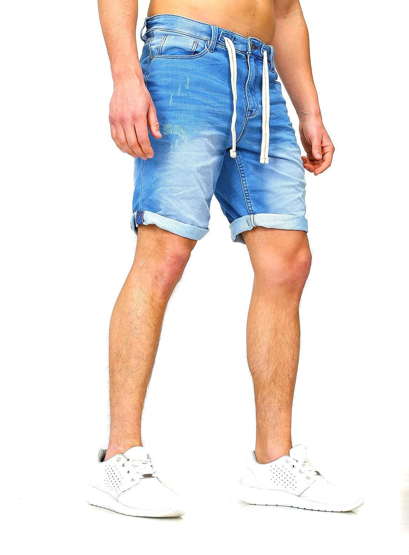 Sudadera Jeans Denim Jogger Shorts Verano Pantalón Corto Sublevel 98-86 azul oscuro