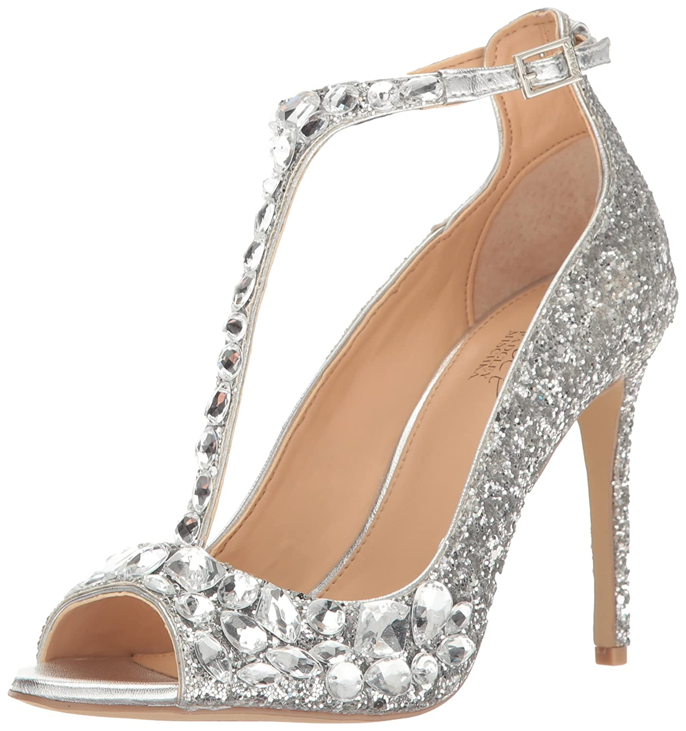 a35ecd6139c12 Amazon.com  Jewel Badgley Mischka Women s Conroy Dress Sandal  Shoes