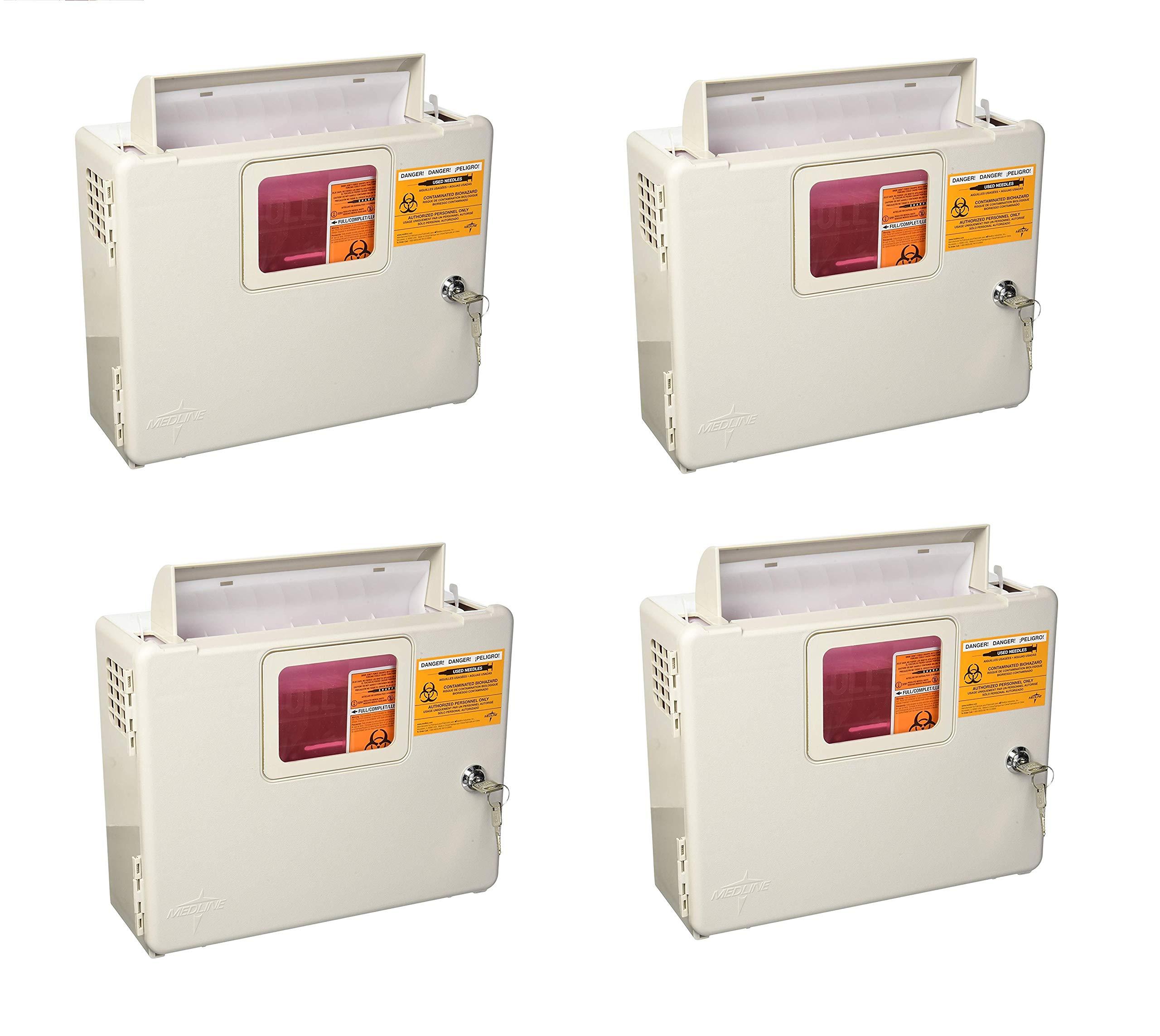 Kendall Wall Cabinet F/5Qt Sharps - Model 85161h (4 Pck)
