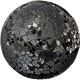 Sfera decorativa in vetro nero specchio a mosaico - 13cm