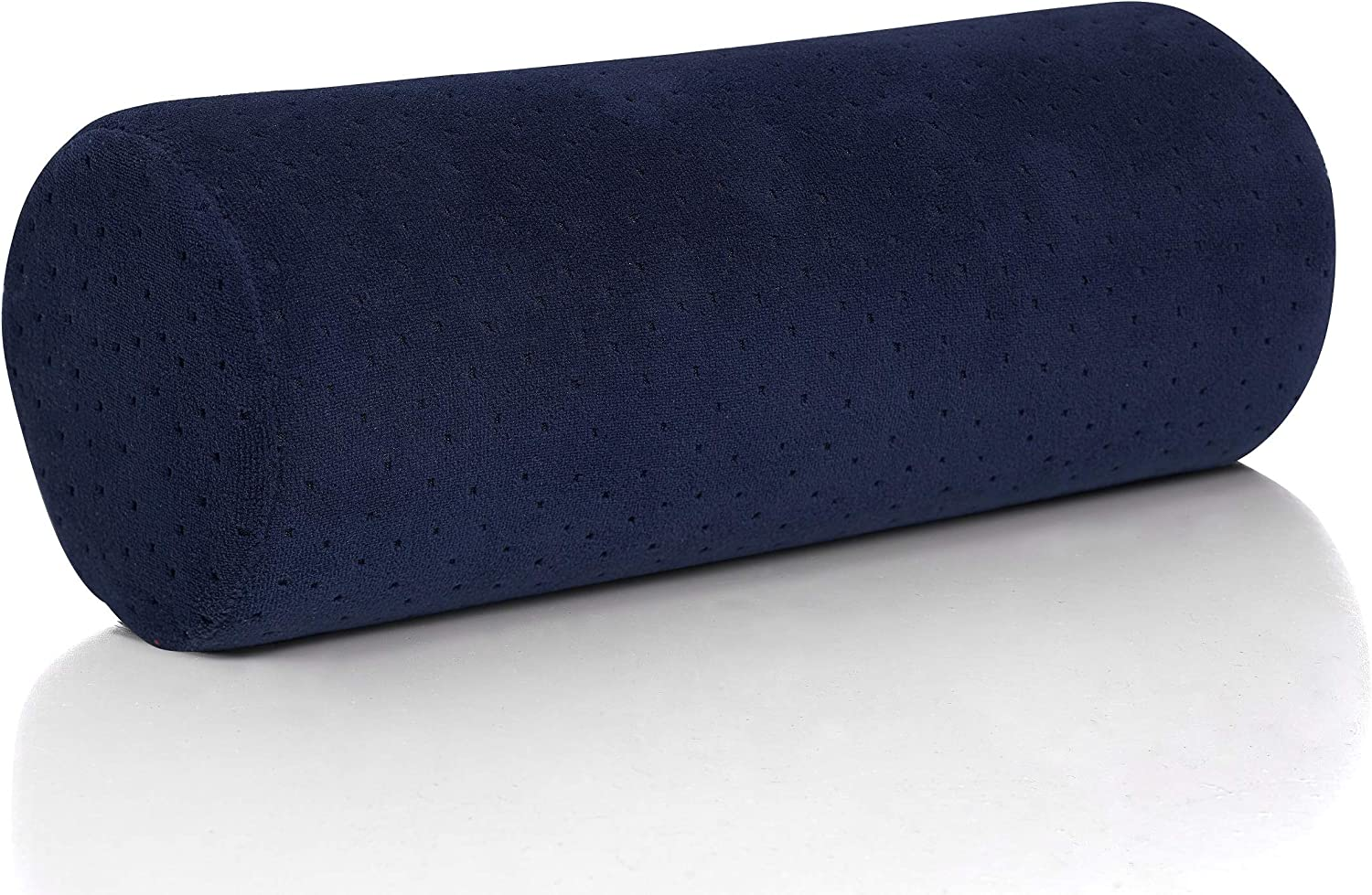 AllSett Health Bamboo Navy Round Cervical Roll Cylinder Bolster Pillow with Removable Washable Cover, Ergonomically Designed for Head, Neck, Back, and Legs || Ideal for Spine and Neck Support