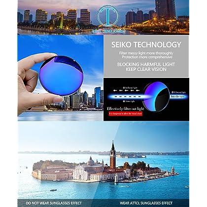 0931184d60 ... ATTCL Men s Driving Polarized Rimless Wayfarer Sunglasses Al-Mg Metal  Frame Ultra Light 8- ...