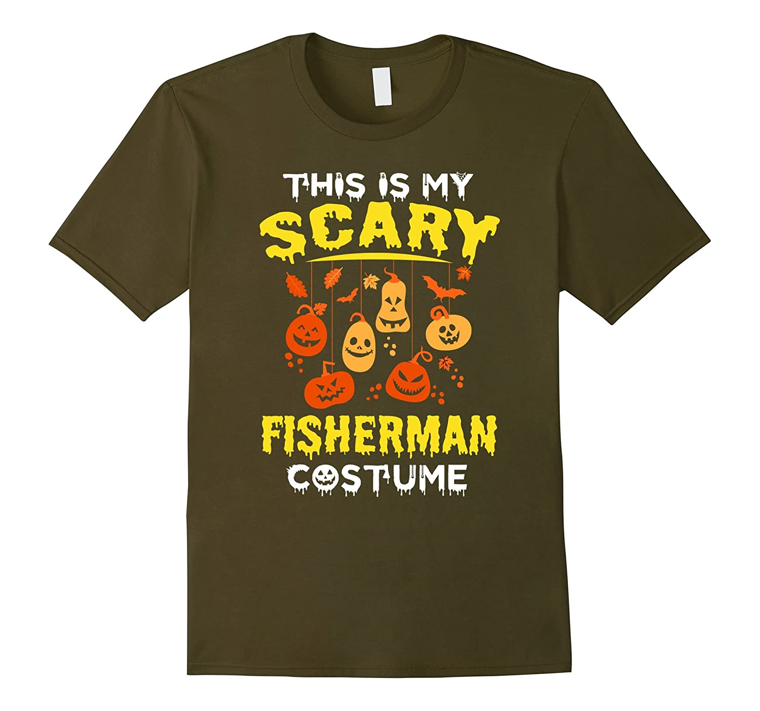 This is my Scary Fisherman Costume Halloween Funny shirt-PL