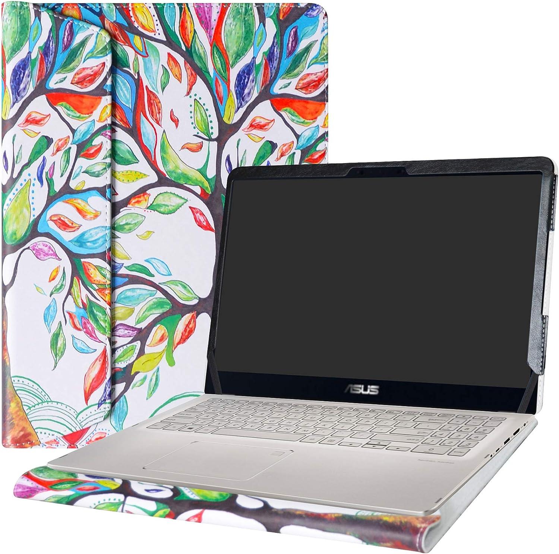 """Alapmk Protective Case Cover for 15.6"""" Asus Q525UA Q505UA Q535UD & ZenBook Flip 15 UX561UD UX561UN & VivoBook Flip 15 TP510UA TP510UQ Laptop(Warning:Not fit Asus Q534UX Q504UA Q524UQ),Love Tree"""