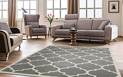 Ottomanson Paterson Collection Contemporary Moroccan Trellis Design Lattice Area  Rug, 7u002710u0026quot; ...