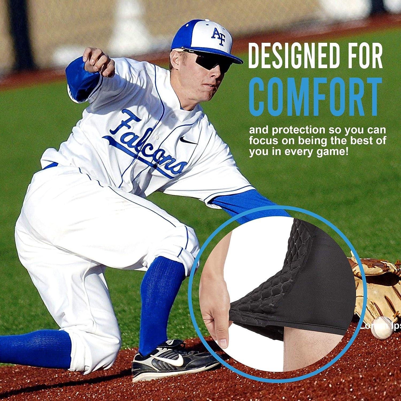 Bodyprox Baseball Sliding Shorts for Men, Compression Padded Slider Shorts : Sports & Outdoors