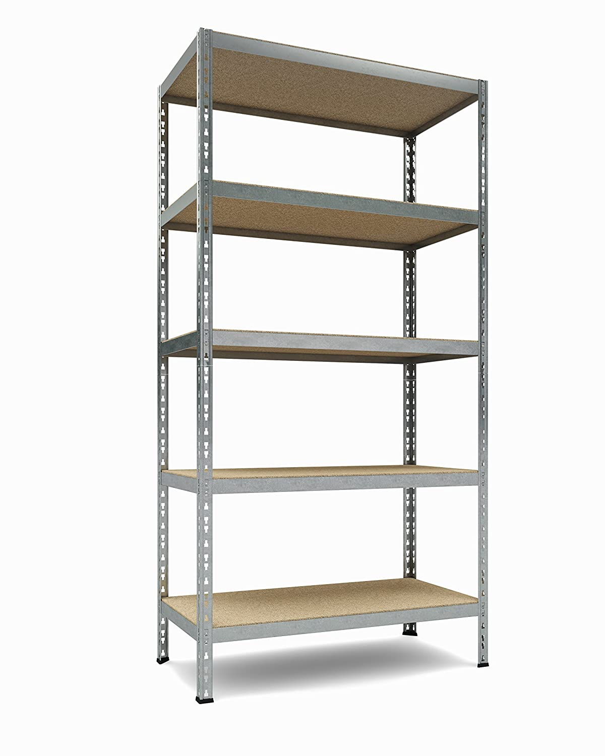 "TKT Heavy Duty Shelving 5-Shelf Shelving Unit, 1.925lbs Capacity, 36"" Width x 72"" Height x 18"" Depth"