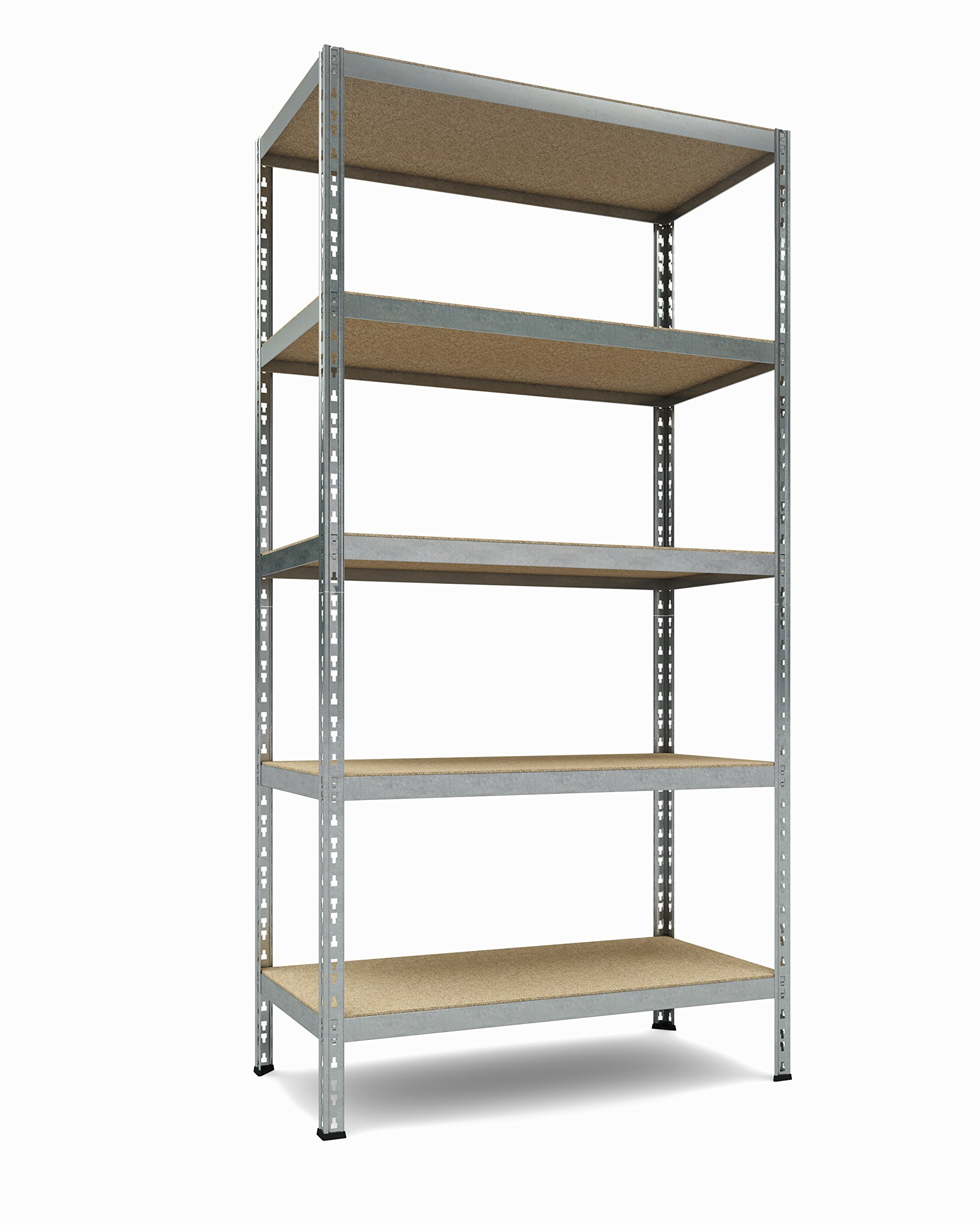 TKT Heavy Duty Shelving 5-Shelf Shelving Unit, 1.925lbs Capacity, 36'' Width x 72'' Height x 18'' Depth by TKT