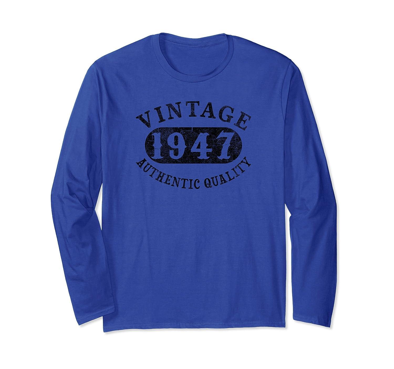70 year old 70th B-day Birthday Gift 1947 Long Sleeve Shirt-Rose