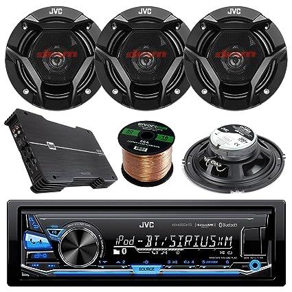 New JVC CSDR620  6.5 Inch 2-Way Car Audio Door Coaxial Speakers 4