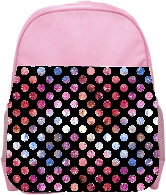 Polka Dots Pink Girls Preschool Toddler Backpack /& Lunch Box Set