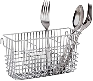 Neat-O Sturdy Chrome-Plated Steel Utensil Drying Rack Basket Holder (Chrome II)