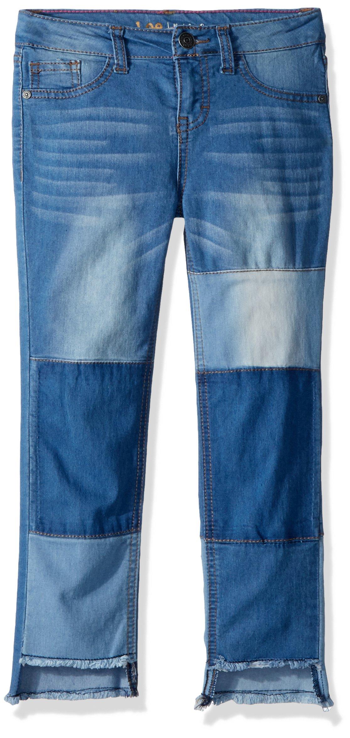 LEE Girls' Big Fashion Skinny Crop Jean, Patch