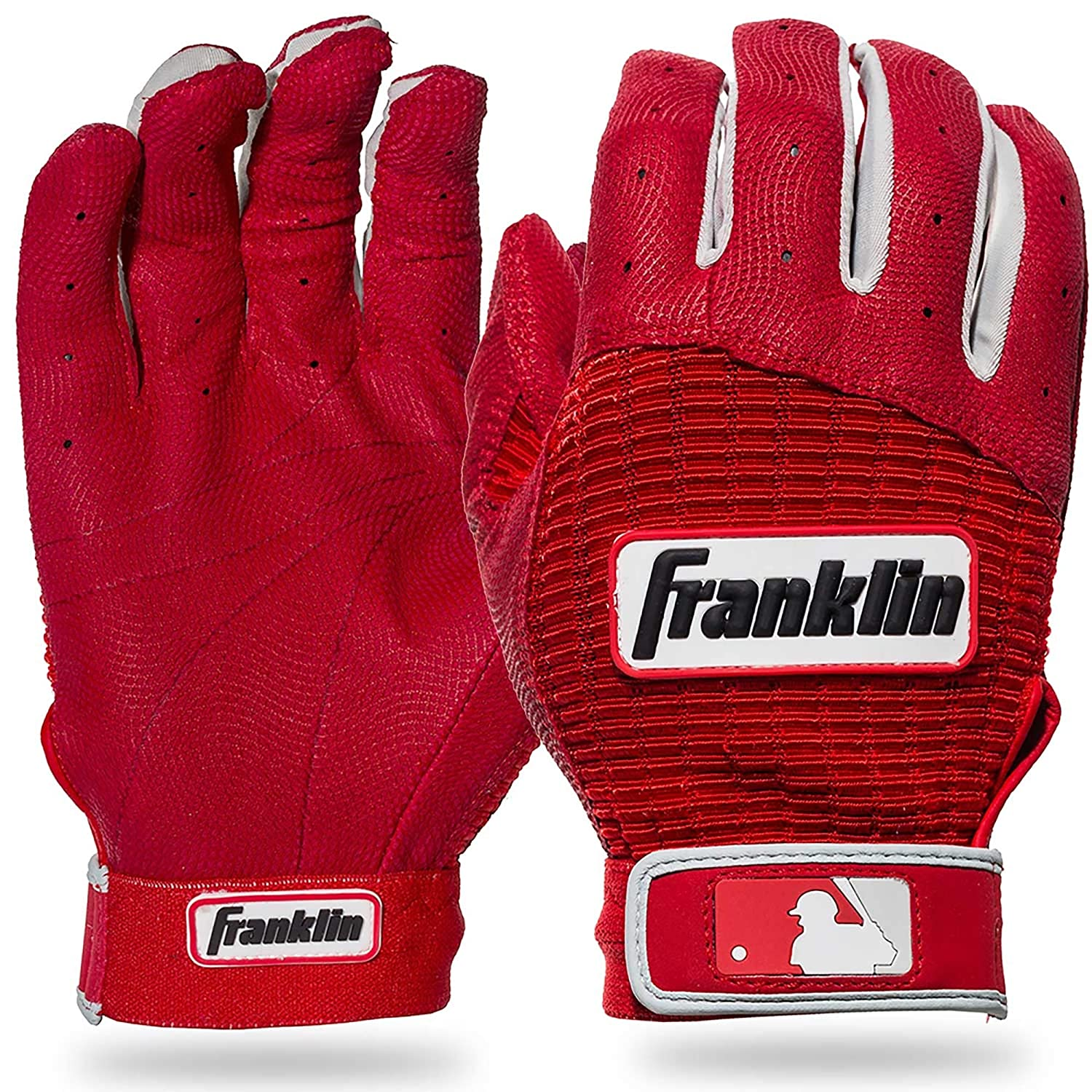 Black//Black Franklin Adult Pro Classic MLB Batting Gloves
