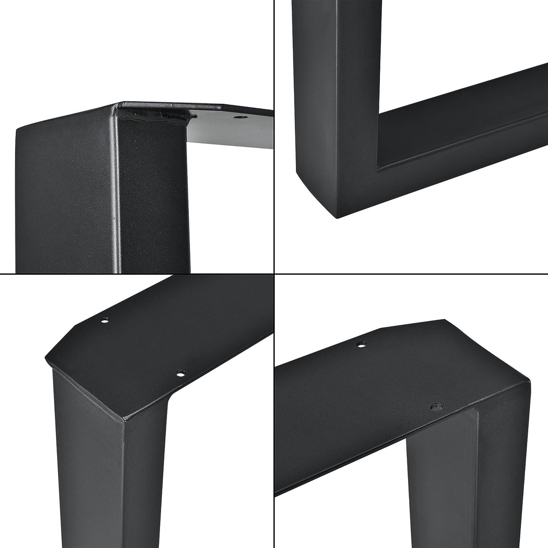 [en.casa] 2 x Conjunto de Patas de mesa - Set de 2x patas de mesa - Metal - Patas de los muebles - 30 x 43 cm - Para banco o para mesa de centro - ...