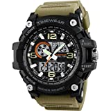 Timewear Military Series Analogue Digital Black Dial Watch For Men & Boys - 12121283