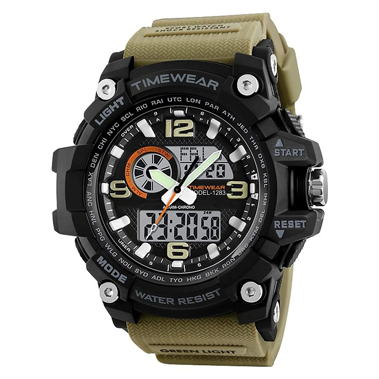 Timewear Military Series Analogue Digital Black Dial Watch For Men & Boys@Rs.699