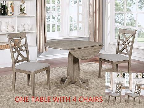 Amazon.com: GTU Furniture Juego de mesa de comedor redondo ...