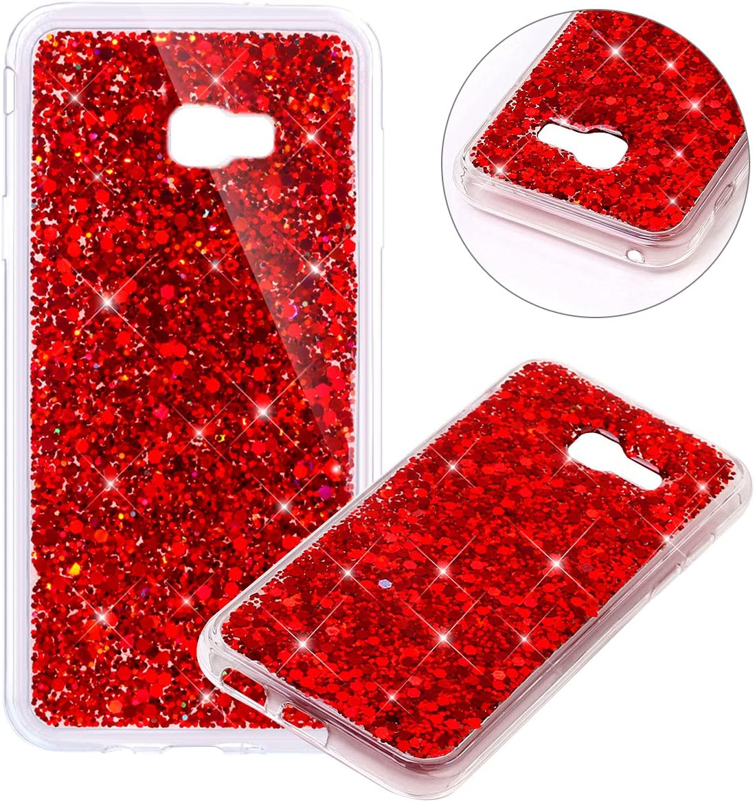 Blue Slim Fit TPU Bumper Shiny Bling Glitter Case for Galaxy A5 2017 Soft Sparkle Silicon Shockproof Back Cover Shell Clear Protective Case for Galaxy A5 2017 Galaxy A5 2017 Case