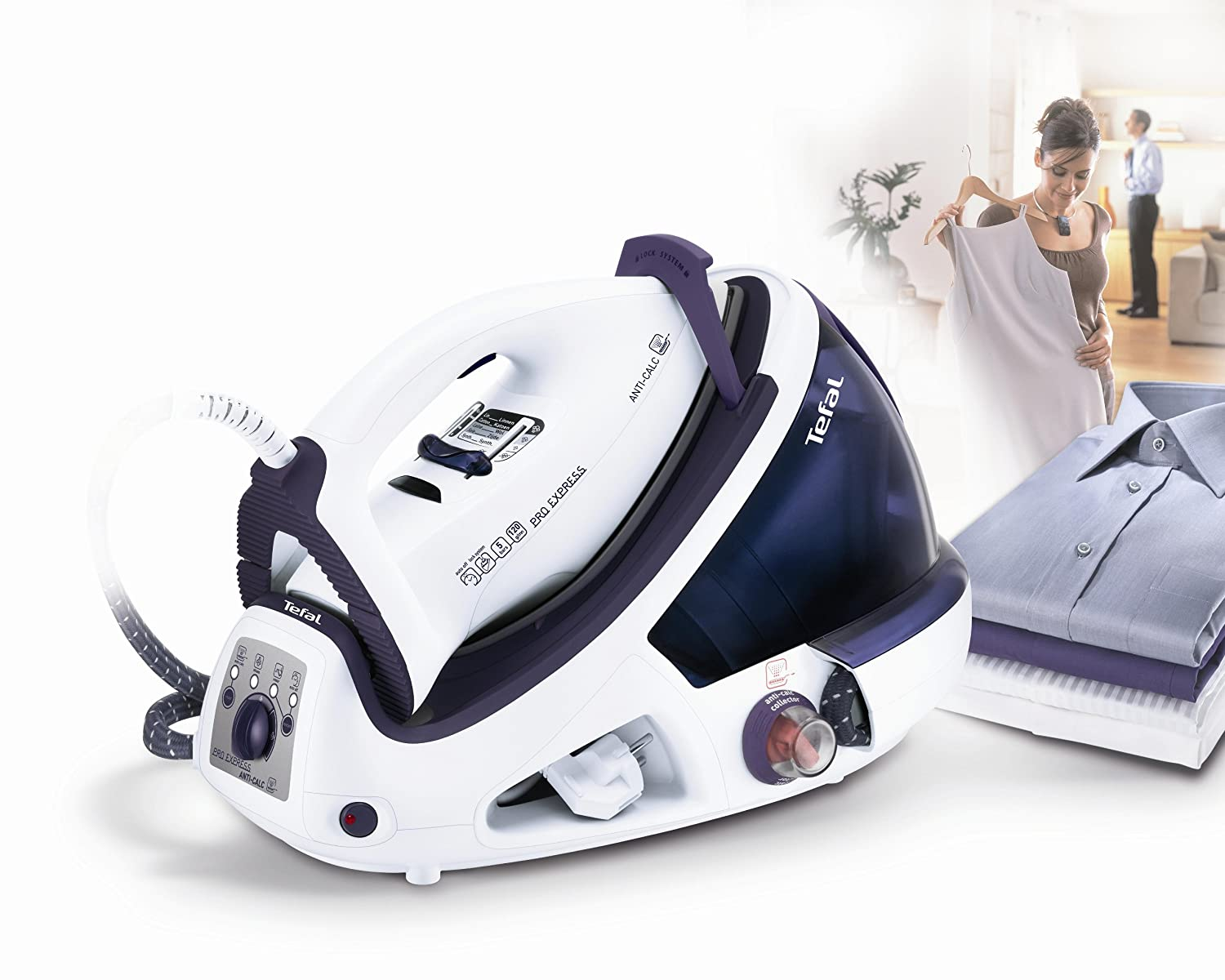 Tefal Pro Express GV8330 Steam Generator, Anti Scale, 1.8 Litre ...