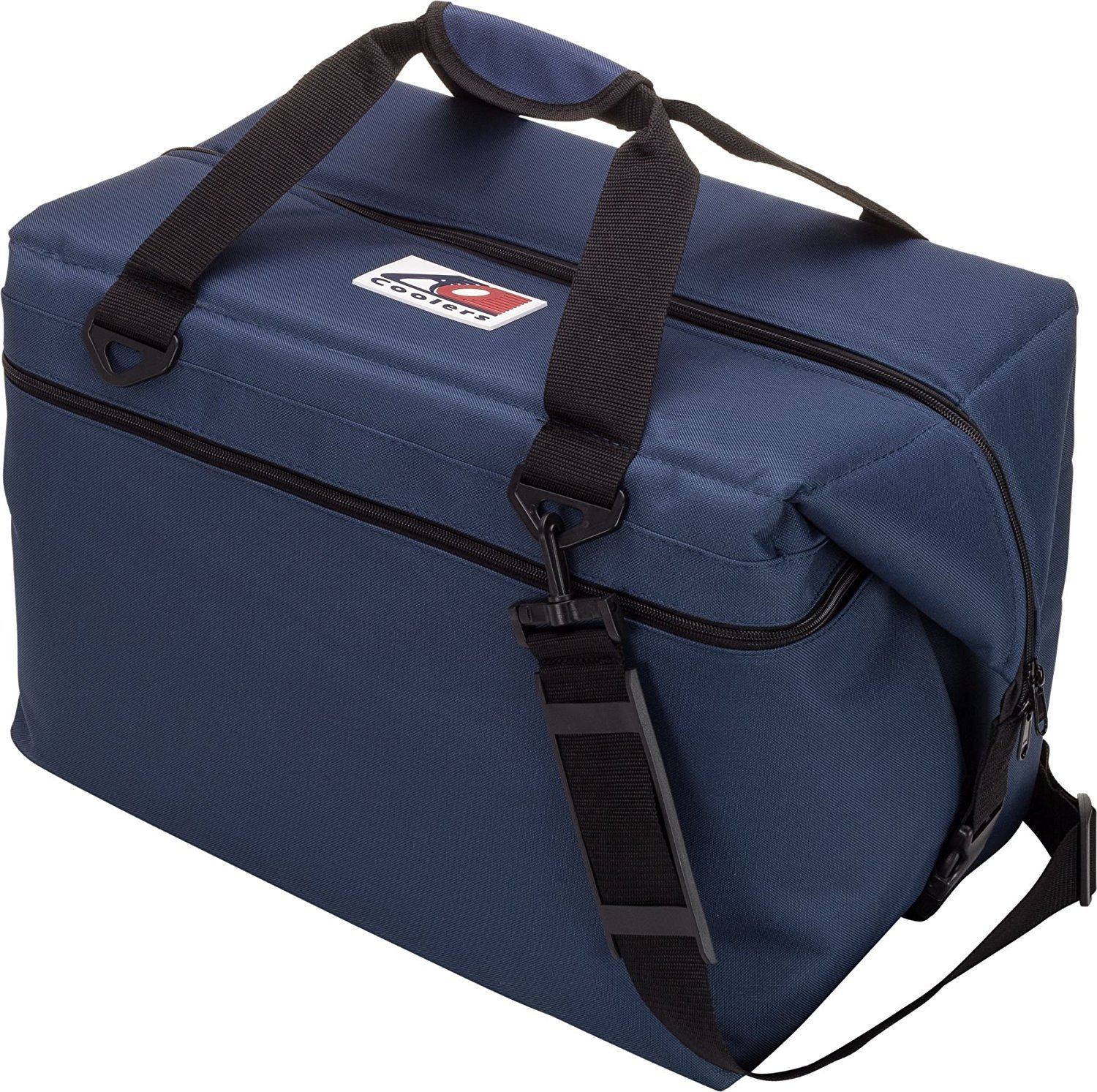 AO Coolers Canvas Soft Cooler with High-Density Insulation, Navy Blue, 48-Can