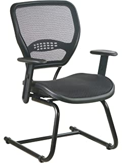 amazon com office star screen back task chair with mesh seat black