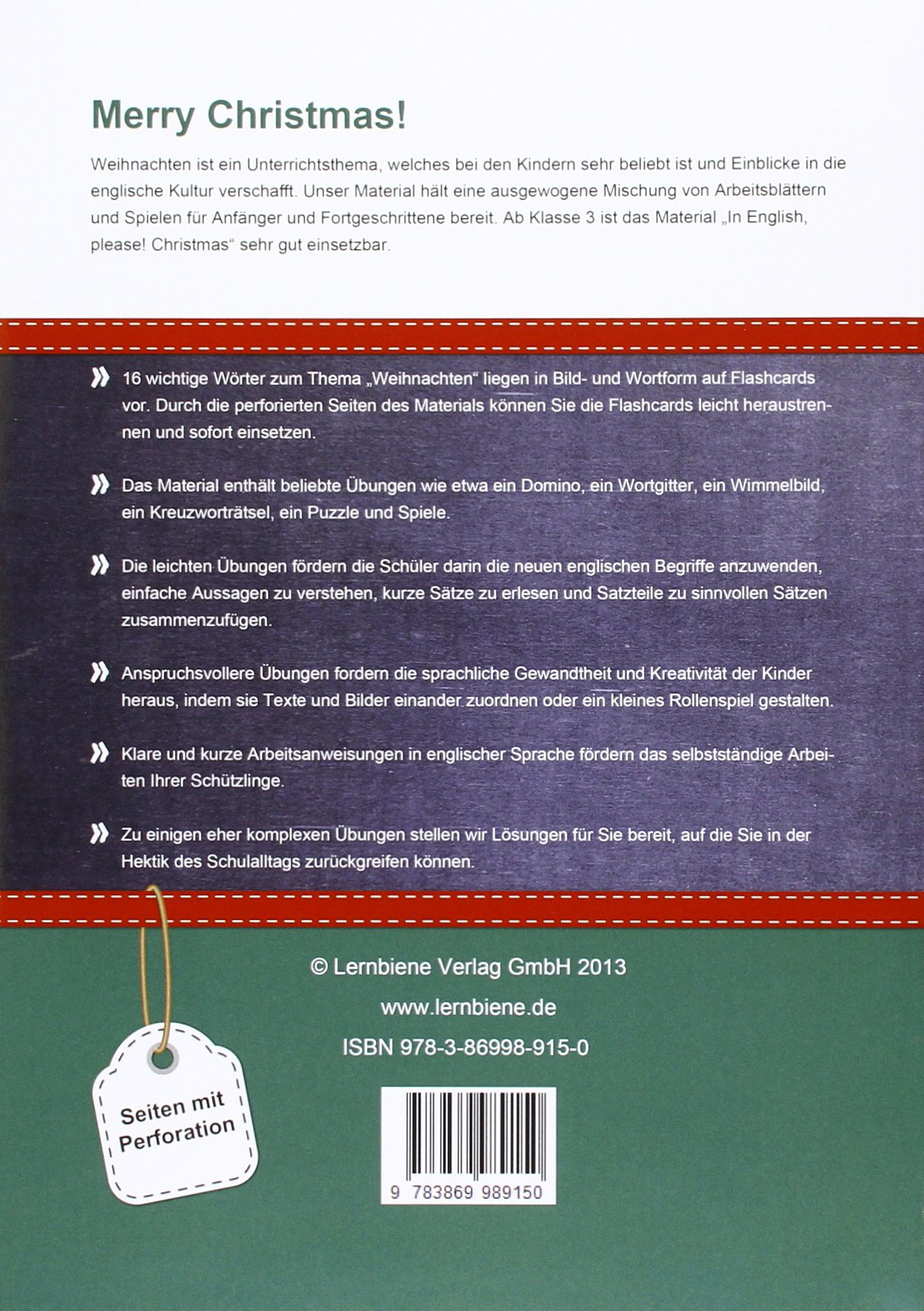 In English, please! Christmas: Grundschule, Englisch, Klasse 3-4 ...