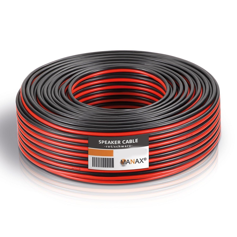 Lautsprecher Kabel Fahrzeugleitung Lautsprecherlitze Boxen Leitung Meterware NEU