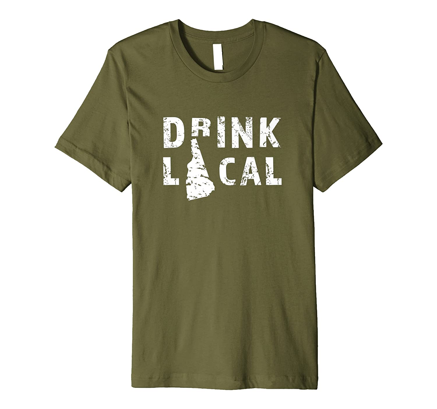 Drink Local New Hampshire Craft Beer NH T-Shirt-AZP