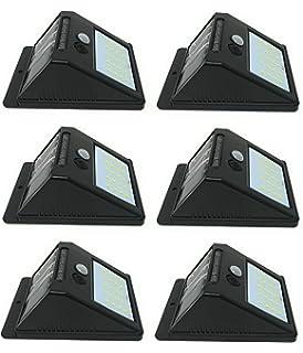 4 X Faretto Da Esterno 20 Led Con Sensore Crepuscolare E Pannello