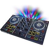 Numark Serato DJ Lite対応2チャンネル・プラグ&プレイDJコントローラー:オーディオインターフェイス・ヘッドホンキューイング・コントロールパッド・クロスフェーダー・ジョグホイール・パーティライト搭載 Party Mix